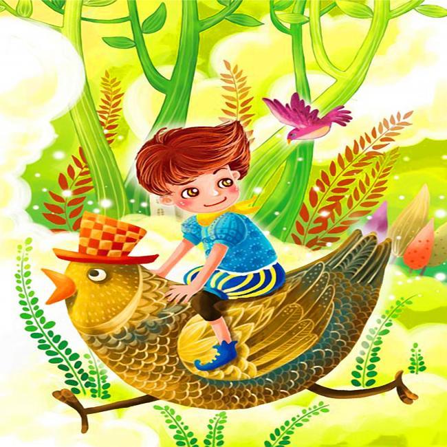 卡通人物儿童动物无框画装饰画