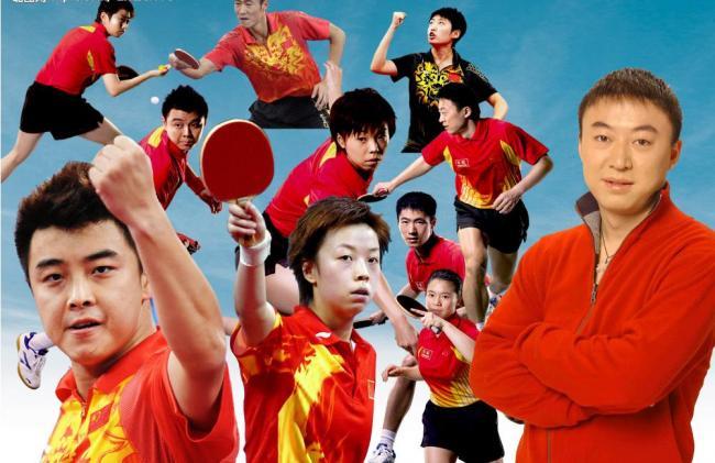 中国乒乓球运动员及教练图片模板下载(图片编