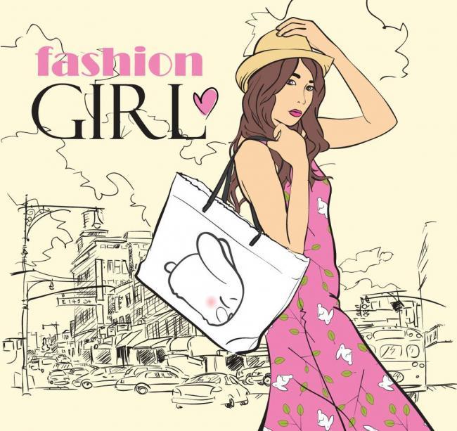 时尚女人动漫人物图片