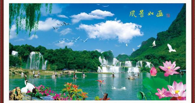 山水风景画图片模板下载(图片编号:11393950)图片