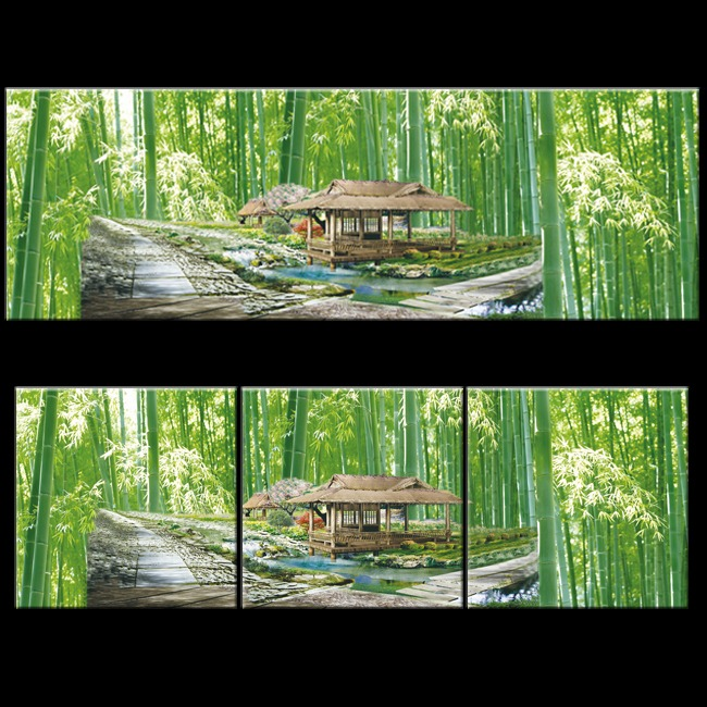 竹林平面图手绘图