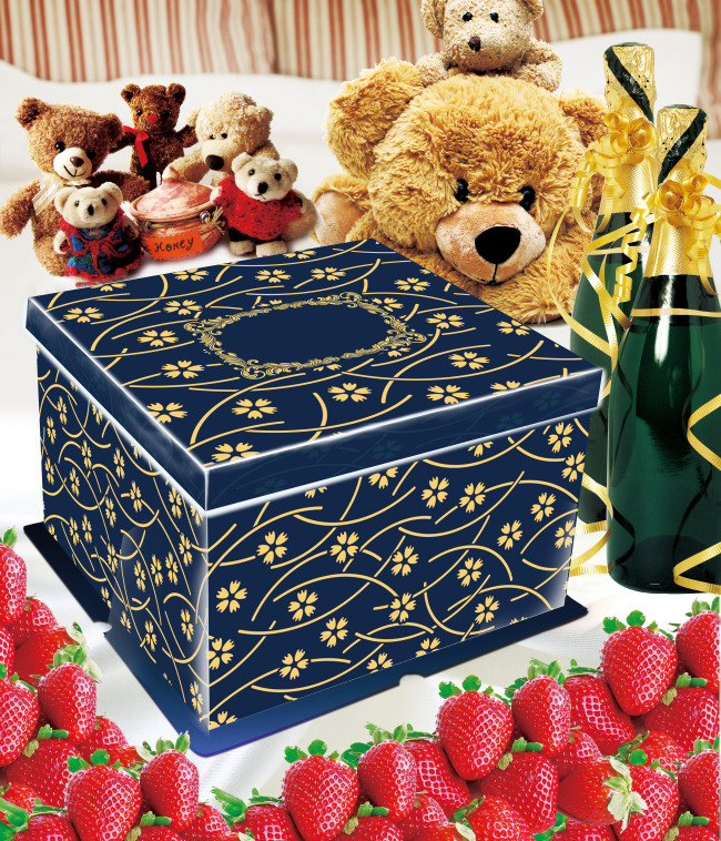 平面图 蛋糕盒/[版权图片]蛋糕盒礼品盒包装平面图
