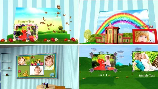 ae卡通儿童电子相册模板