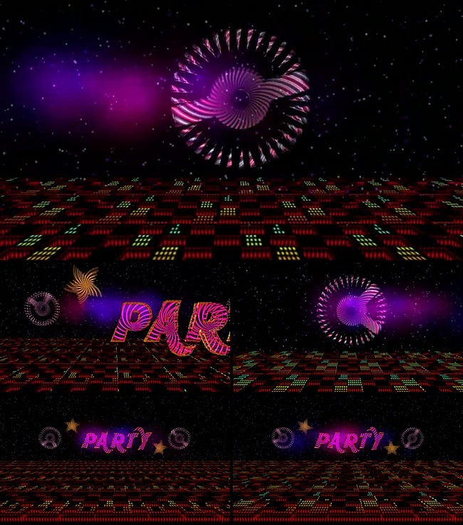 party聚会开场文字特效高清视频素材