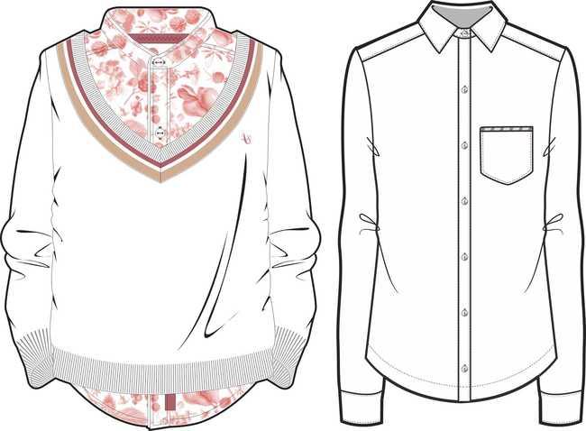 春夏秋冬流行服装款式图下载 运动装时尚流行装衬衫t恤衫 流行西装