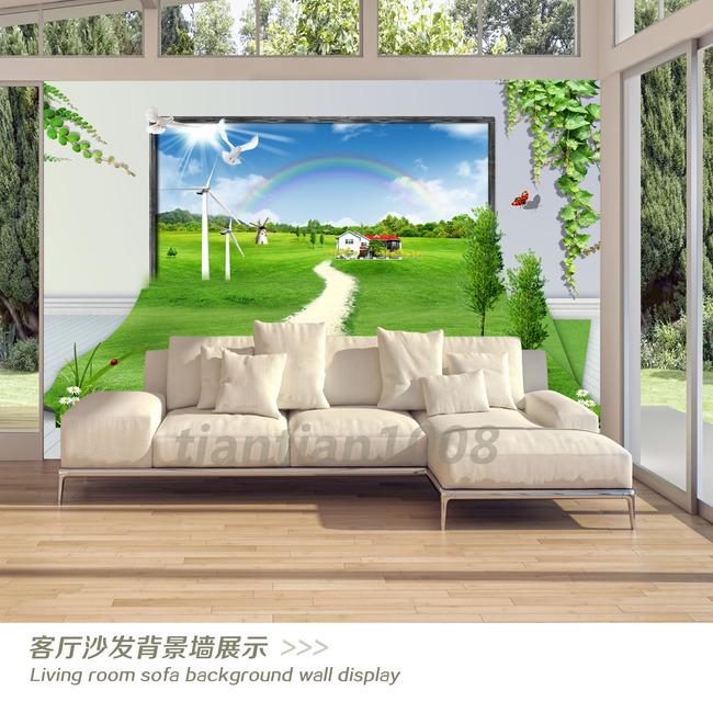 3d立体风景画电视背景墙装饰画