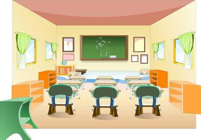 flash教室动画场景设计源文件