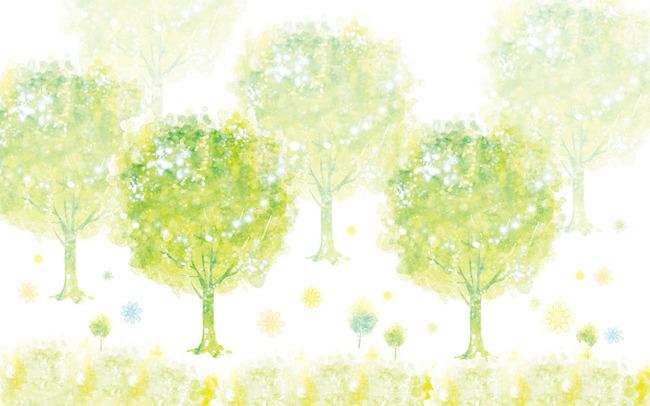 背景墙|装饰画 电视背景墙 手绘电视背景墙 > 水彩抽象树林电视背景墙