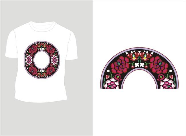 花纹 传统文案 民族图案 民族色彩 少数民族图案 少数民族元素 t恤设