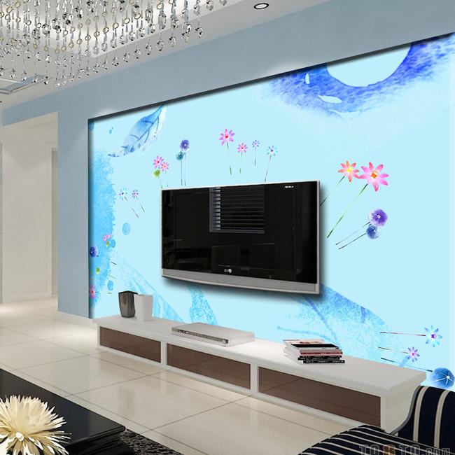 背景墙 电视/淡雅简洁电视背景墙