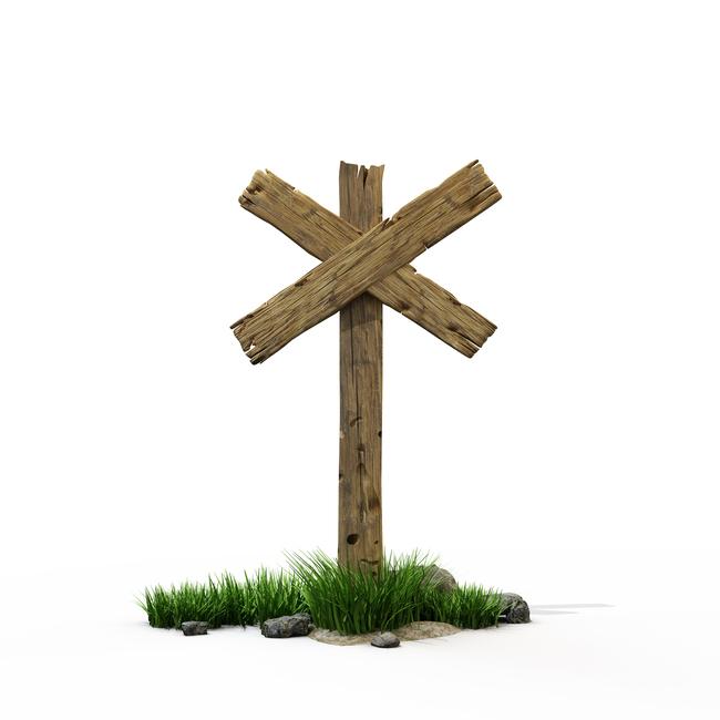木质木头箭头路标指路牌质感