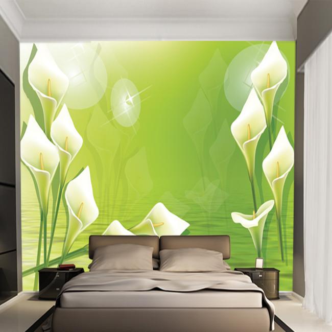 绿色马蹄莲电视背景墙装饰画