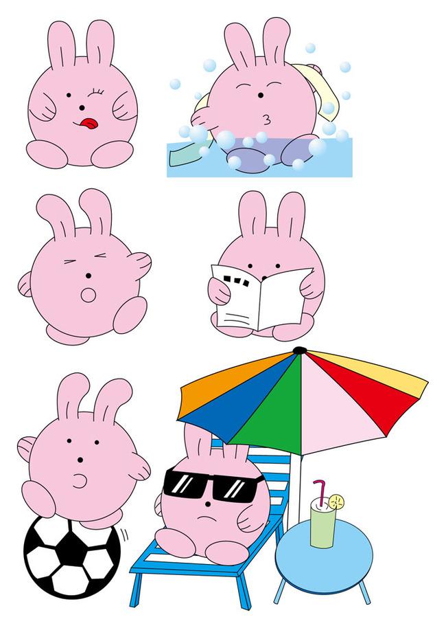 泡泡兔卡通设计