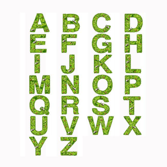 创意字母艺术字体设计
