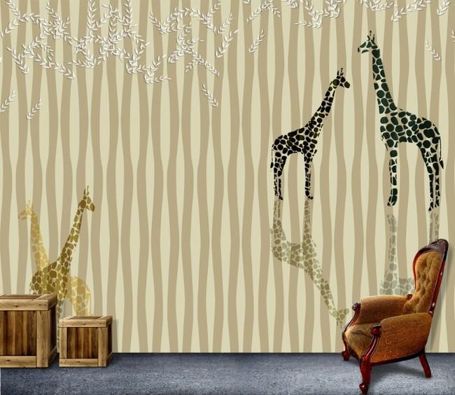 壁画 素雅 小鹿/[版权图片]壁画小鹿素雅