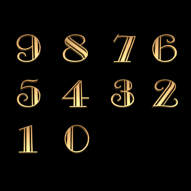 3d立体金属数字