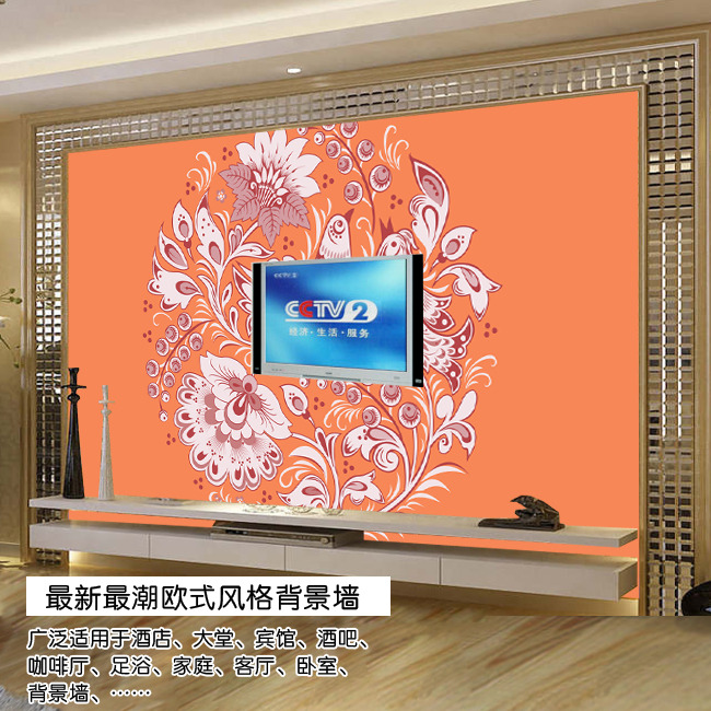 欧式画鸟电视背景墙模板下载(图片编号:11445268)