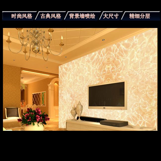 欧式大理石客厅电视背景墙图片