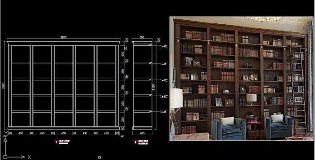 书柜设计图纸