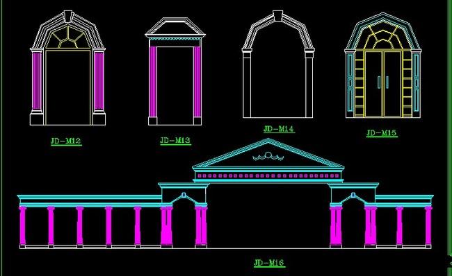 cad图库 室内设计cad图库 cad图纸 > 齐全的室内欧式壁炉罗马柱浮雕