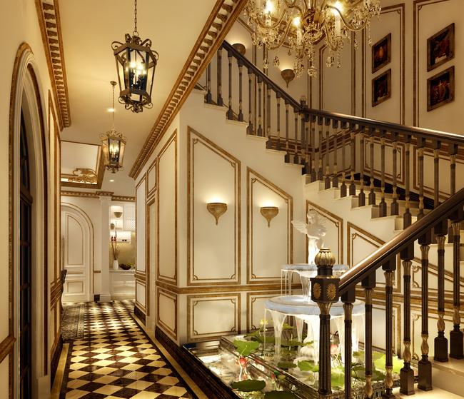 室内设计效果图过道楼梯
