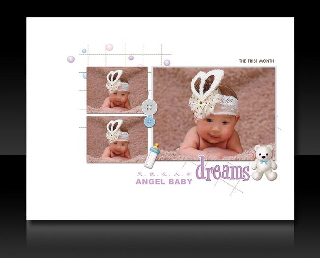 高清幼儿儿童成长手册成长档案背景图片模板下载