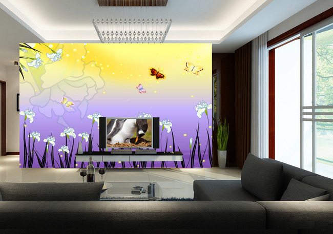 彩铅花卉百合手绘图片展示