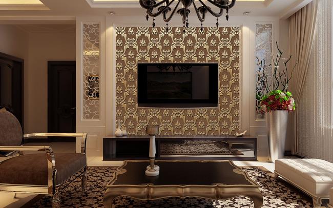 客厅卧室电视背景墙 背景墙 欧式室内效果图 酒店宾馆背景墙 ktv背景