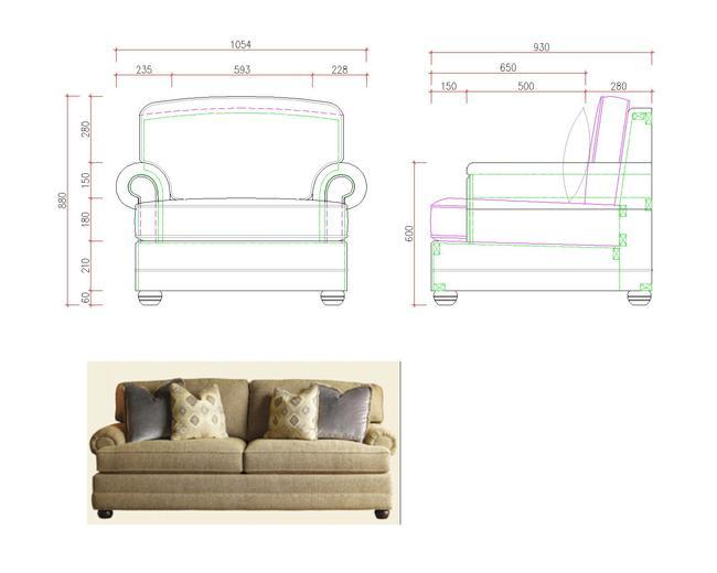 美式家具图纸定制家具图纸
