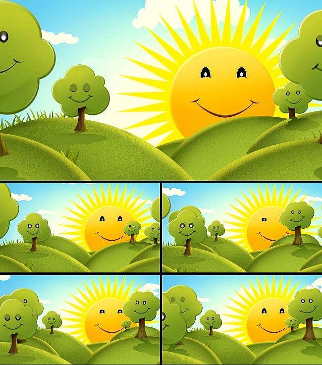 可爱的太阳公公儿童动画背景视频模板下载 11483445 动态 特效 背景
