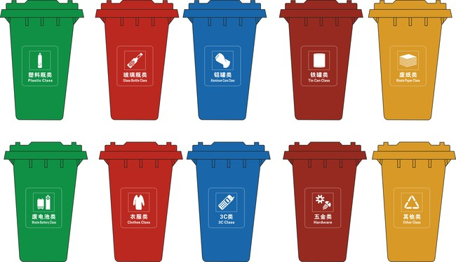 垃圾分类垃圾桶模型