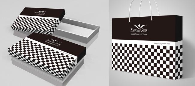 黑白格礼品包装高档包装盒