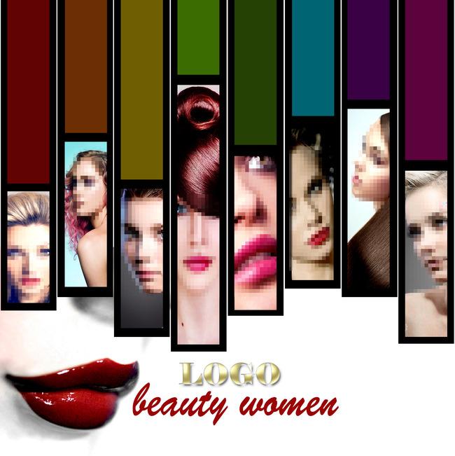 欧美化妆品美容美发高清画册