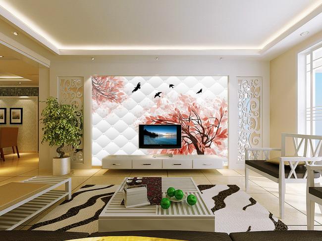 软包壁画 电视背景墙