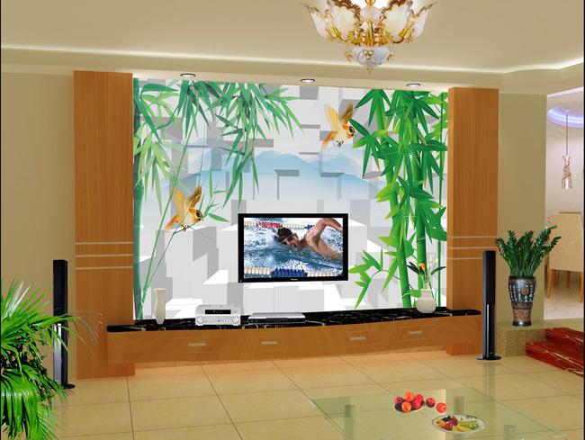 3d立体电视背景墙装饰画