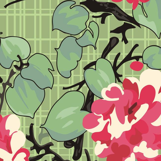 欧式花卉壁纸图片