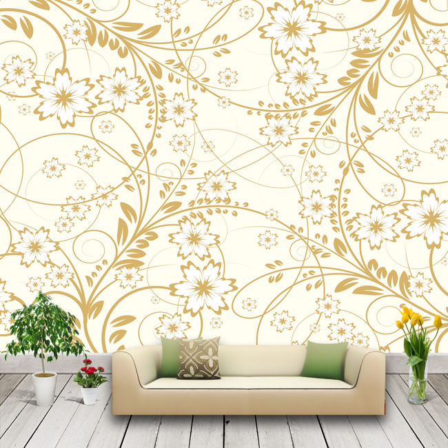 欧式纹样手绘墙画