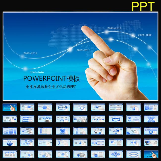 动态企业文化发展历程幻灯片ppt模板