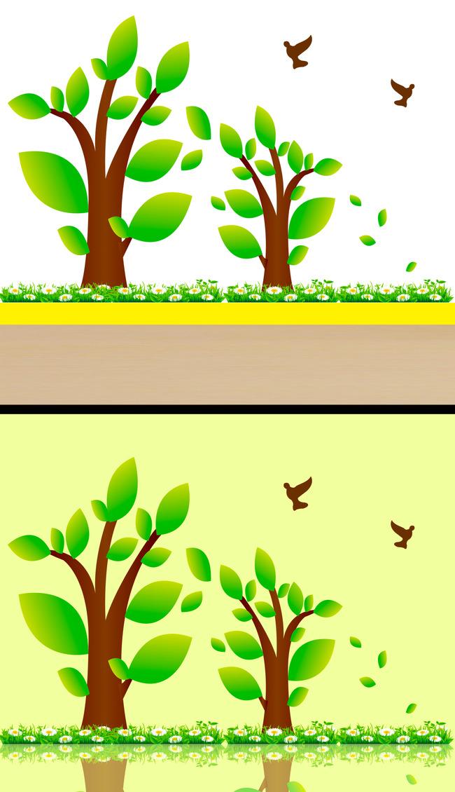 树木简笔画 彩色