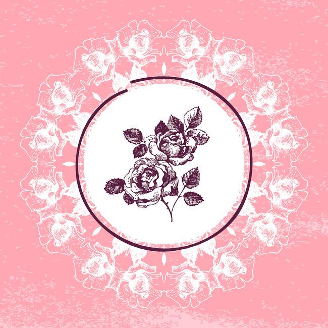 浪漫手绘玫瑰花无框画