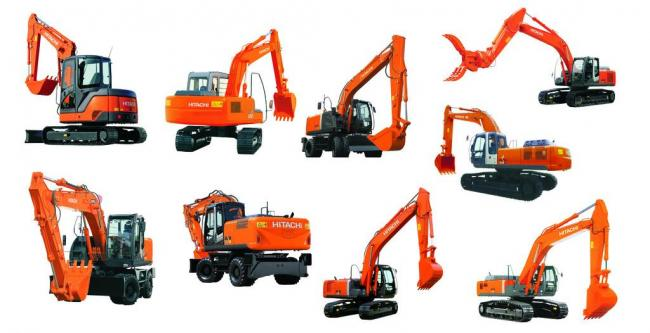 日立挖掘机图片模板下载 日立挖掘机图片图片下载 日立挖掘机素材下载