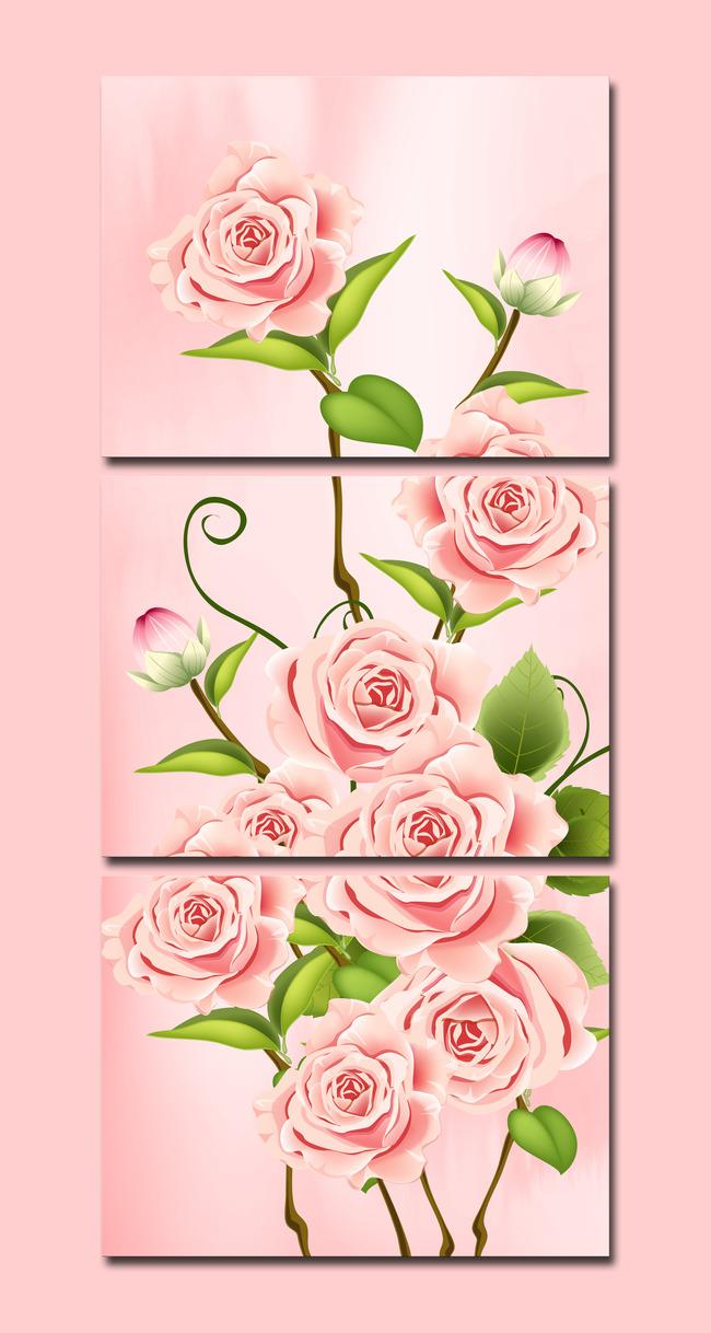 玫瑰 艺术 现代画 家居画