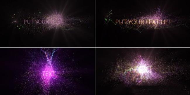 4种粒子光影特效展示logo文字ae模板模板下载(图片:)