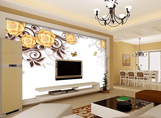 抽象 背景墙 电视墙 形象墙 欧式风格 简约 现代 温馨 高雅 高贵 浪漫