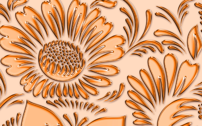 高清手绘psd分层欧式黄金效果背景墙