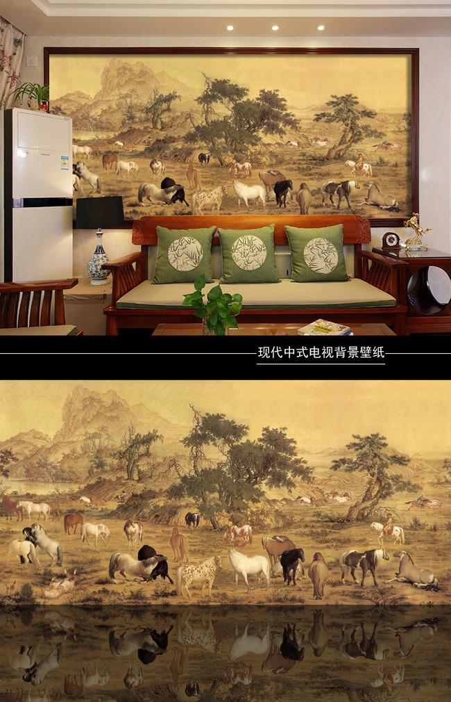 背景墙|装饰画 其他 背景墙 > 中式沙发背景墙图片