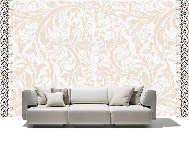 欧式复古花纹背景墙电视墙图片