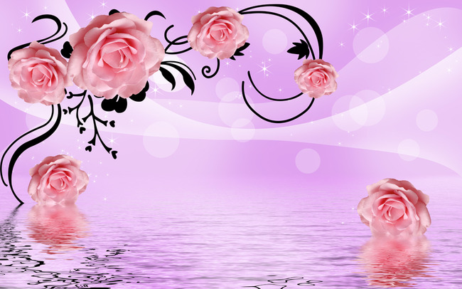 玫瑰花瓣背景图片淡雅