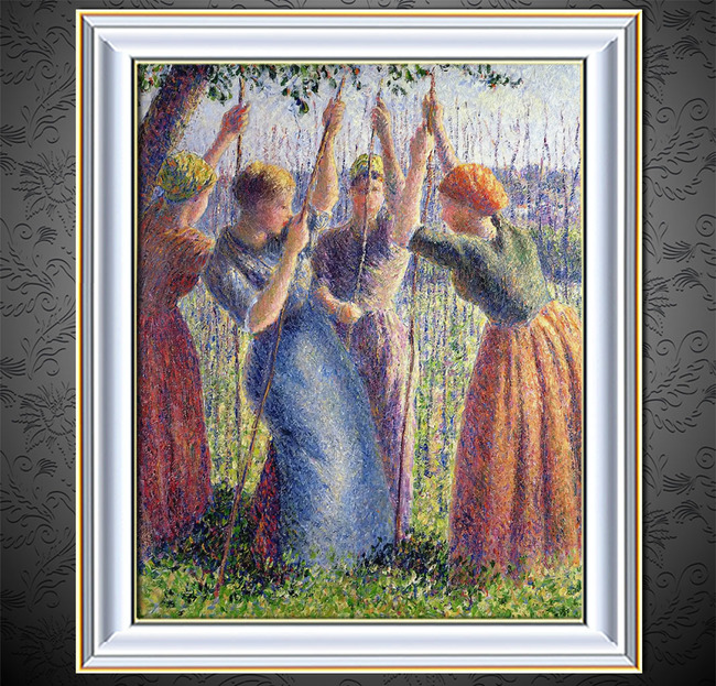 油画 的女人/草地上的女人印象主义油画