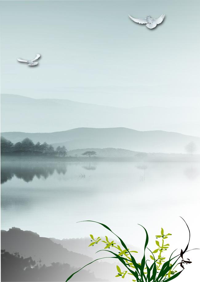 竖版中国风背景图片